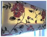 Handmade Roman Blind made with GP&J Baker Embroidered Fabric
